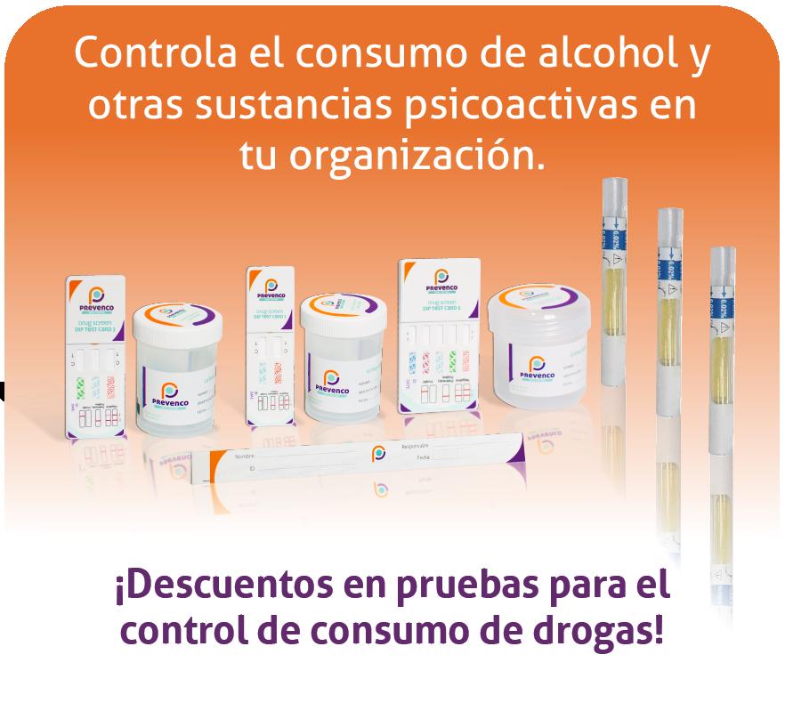 Pruebas para el control de consumo de alcohol y drogas